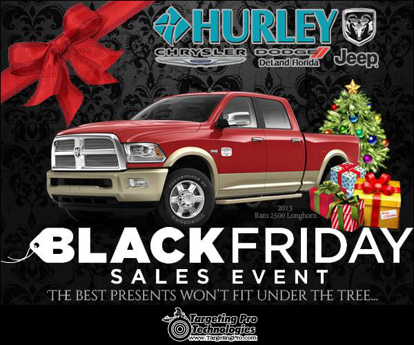 Graphic Design Holiday Event Car Dealership Black Friday Advertising Services