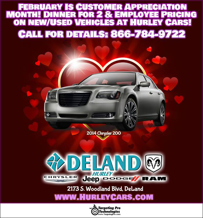 Graphic Design Holiday Event Valentines Day Car Dealership