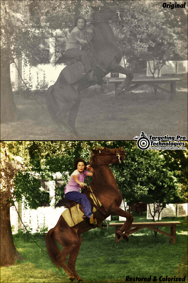 Vintage Photo Restoration Photography Colorize Repair
