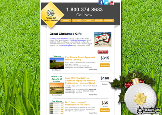 Travel Golf Lodging Hotel Email Marketing Campaign