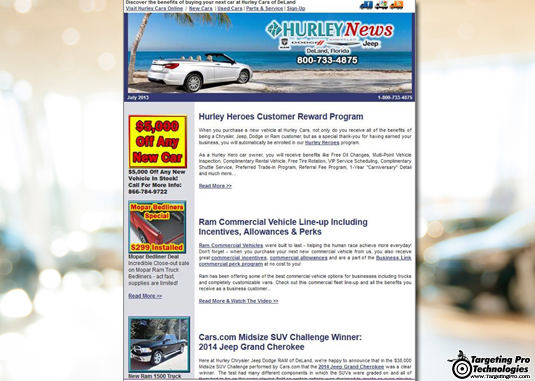 Car Dealer Auto Dealership Newsletter Email Marketing Campaign