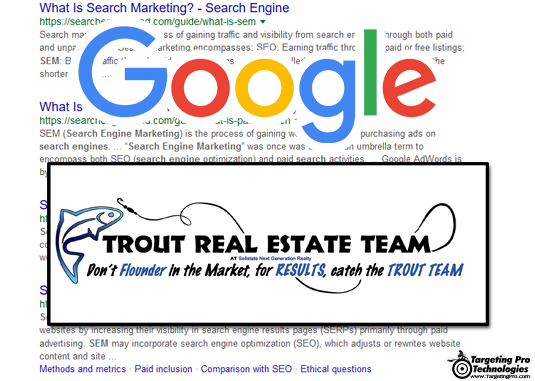 Realty Realtor Real Estate Broker Search Engine Marketing SEM Services