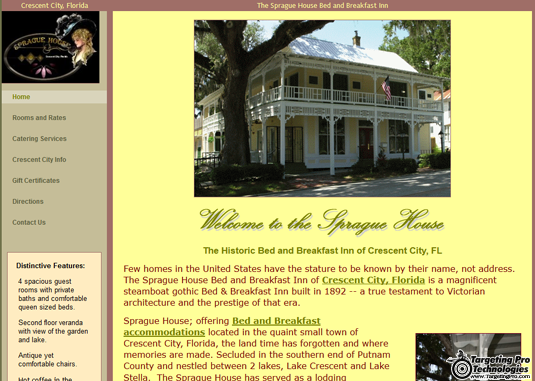 Lodging Hotel Bed and Breakfast Web Design Services
